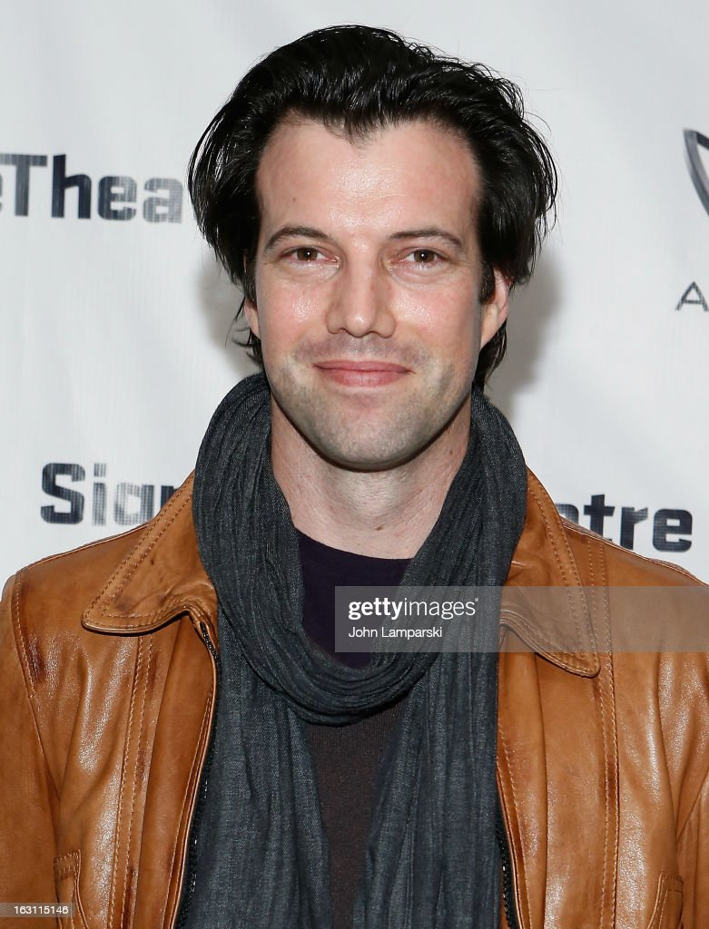 Lorenzo Pisoni attends the 'Old Hats' Opening Night at Signature Theatre Company's The Pershing Square Signature Center on March 4, 2013 in New York City.