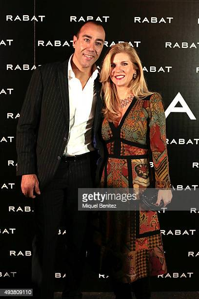 Lorenzo Quinn and Giovanna Cicutto attend Rabat Jewelry Boutique Inauguration on October 22 2015 in Barcelona Spain