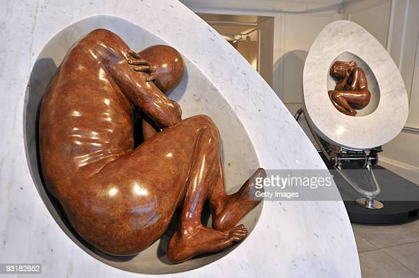 Lorenzo Quinn's dramatic sculpture 'What Came First' on display at Mayfair's Halcyon Gallery 24 Bruton Street 'What Came First' forms part of the...