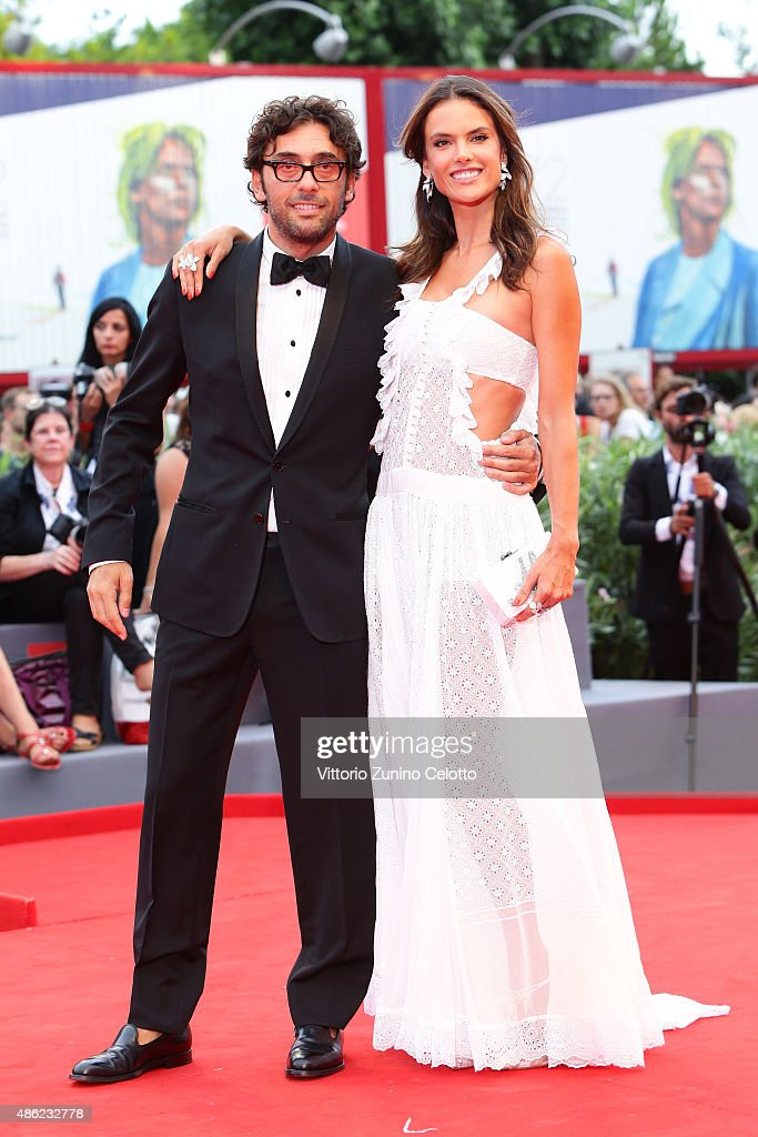 Lorenzo Serafini and Alessandra Ambrosio attend the opening ceremony and premiere of 'Everest' during the 72nd Venice Film Festival on September 2, 2015 in Venice, Italy.