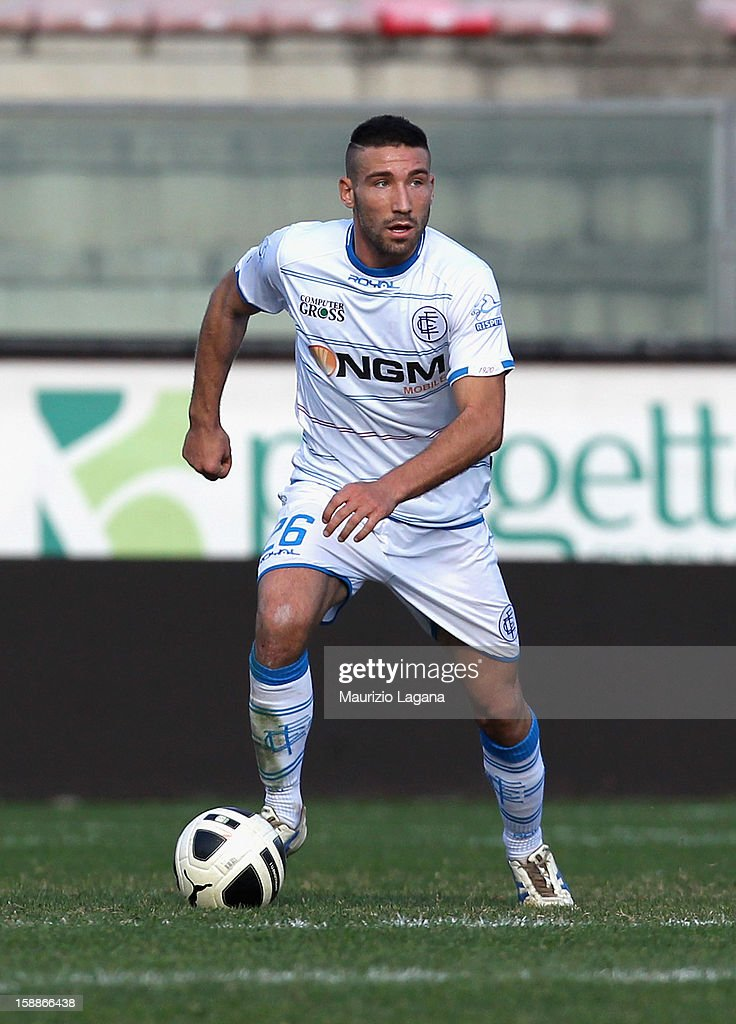 Lorenzo Tonelli of Empoli during the Serie A match between Reggina Calcio and Empoli FC at Stadio Oreste Granillo on December 30, 2012 in Reggio Calabria, Italy.