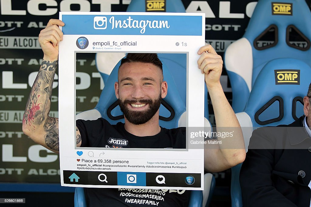 Lorenzo Tonelli of Empoli Fc attend the Serie A match between Empoli FC and Bologna FC at Stadio Carlo Castellani on May 1, 2016 in Empoli, Italy.