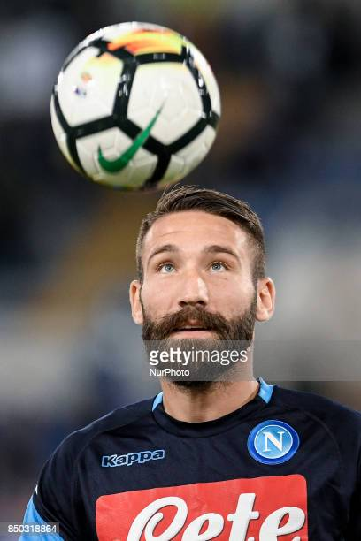Lorenzo Tonelli of Napoli during the Serie A match between Lazio and Napoli at Olympic Stadium Roma Italy on 20 September 2017