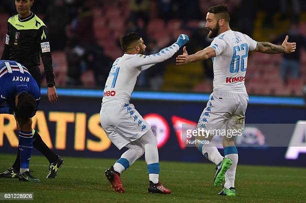 Lorenzo Tonelli of SSC Napoli celebrates after scoring during the Serie A TIM match between SSC Napoli and UC Sampdoria at Stadio San Paolo Naples...