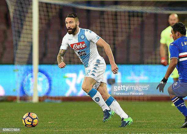 Lorenzo Tonelli of SSC Napoli in action during the Serie A match between SSC Napoli and UC Sampdoria at Stadio San Paolo on January 7 2017 in Naples...