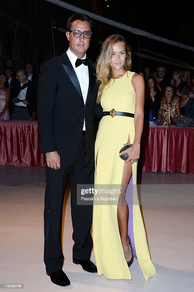 Lorenzo Tonetti and Natalia Borges attend the Opening Dinner Arrivals during the 70th Venice International Film Festival at the Hotel Excelsior on August 28, 2013 in Venice, Italy.