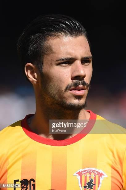 Lorenzo Venuti of Benevento Calcio during the Serie A TIM match between SSC Napoli and Benevento Calcio at Stadio San Paolo Naples Italy on 17...