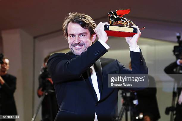 Lorenzo Vigas attends the award winners photocall during the 72nd Venice Film Festival on September 12 2015 in Venice Italy