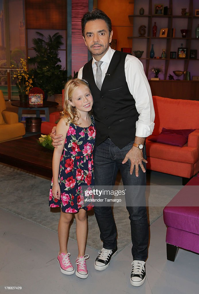 Loreto Peralta and Eugenio Derbez make an appearance to promote the film 'Instructions Not Included' on Despierta America at Univision Headquarters...