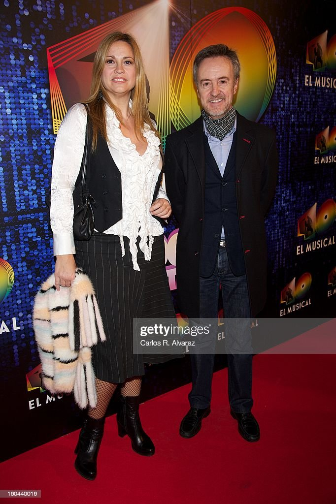 Loreto Valverde and Carlos Hipolito attend '40 El Musical' premiere at the Rialto Theater on January 31, 2013 in Madrid, Spain.