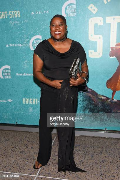 Loretta Devine attends the opening night of 'Bright Star' at Ahmanson Theatre on October 20 2017 in Los Angeles California