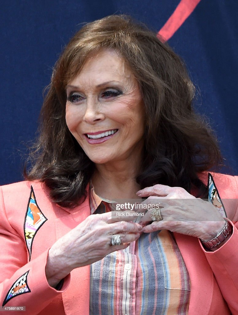 Loretta Lynn (pictured) and Jack White Inducted Into The Nashville Walk Of Fame on June 4, 2015 in Nashville, Tennessee.