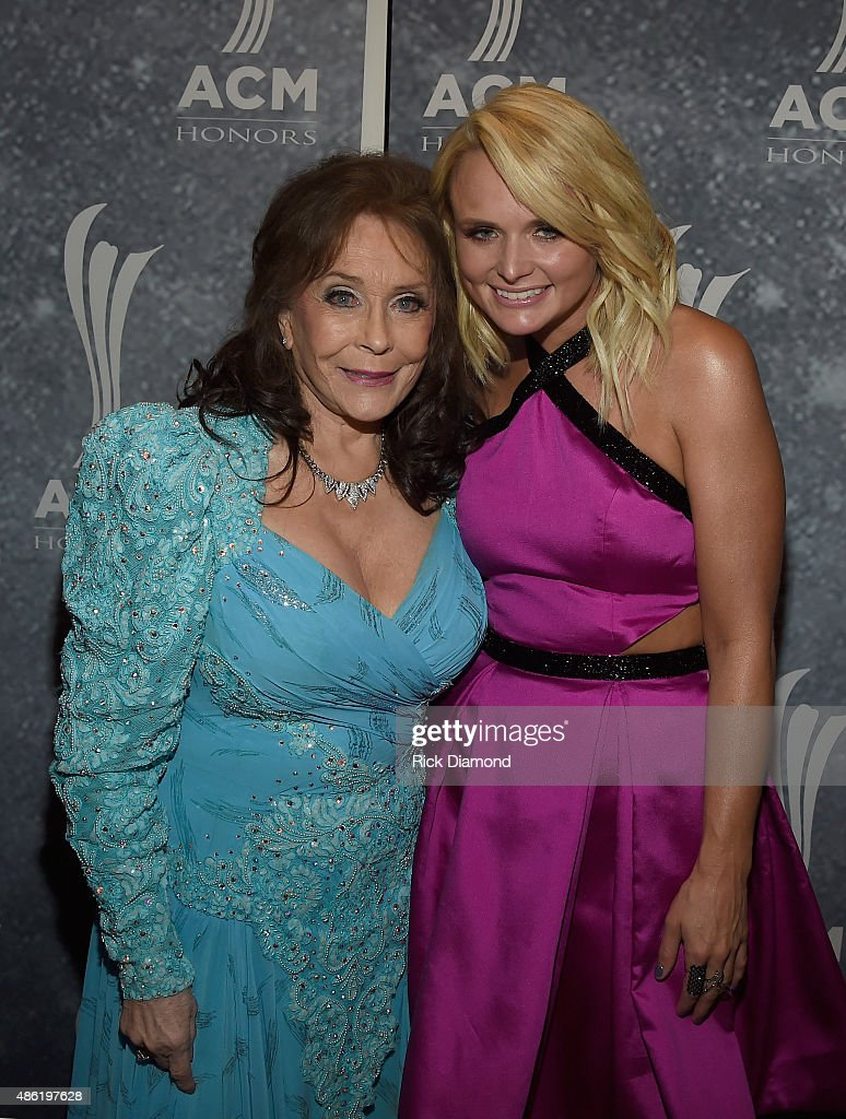 Loretta Lynn and Miranda Lambert backstage during the 9th Annual ACM Honors at the Ryman Auditorium on September 1 2015 in Nashville Tennessee