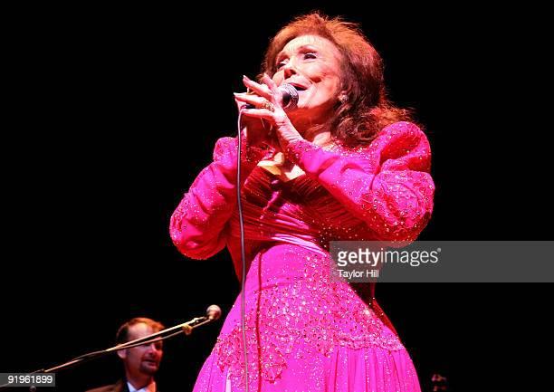 Loretta Lynn performs at the Alys Stephens Center on October 16 2009 in Birmingham Alabama