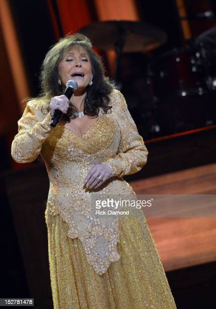 Loretta Lynn performs during the celebration of Loretta Lynn's 50th Opry Anniversary at The Grand Ole Opry on September 25 2012 in Nashville Tennessee