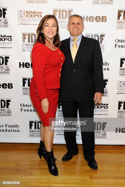 Loretta Sanchez and Jerry Gershon attend FIDF CASINO NIGHT 2009 at The Metropolitan Pavilion on December 5 2009 in New York City