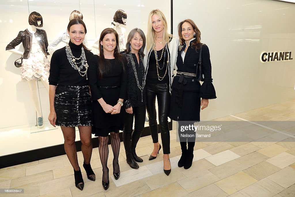 Lori Hall, Debra Perelman, Brooke Garber Neidich, Christine Mack and Marcia Mishaan attend Bloomingdale's celebration of the newly renovated Chanel RTW Boutique at Bloomingdale's 59th Street Store on January 24, 2013 in New York City.