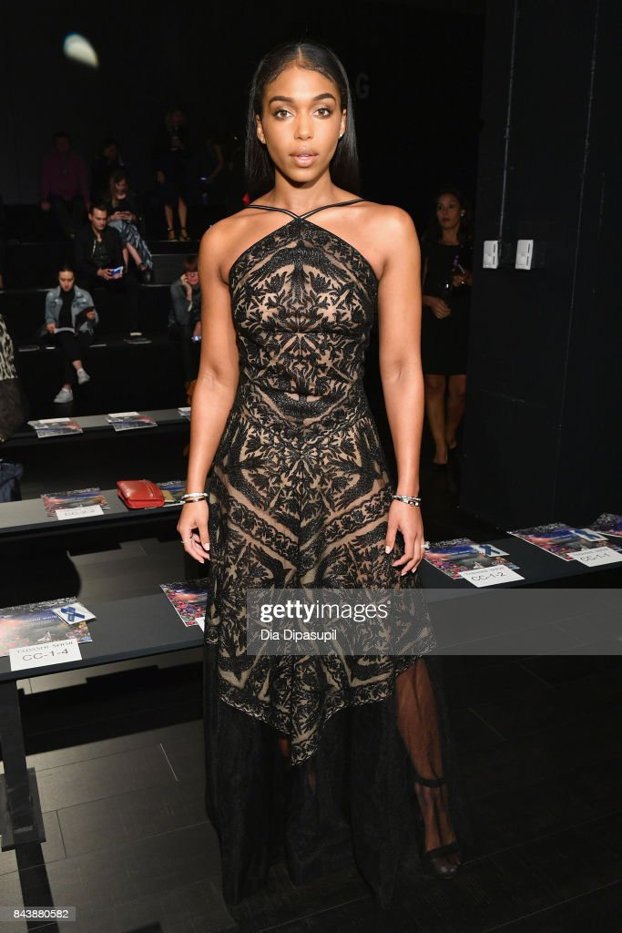Lori Harvey attends the Tadashi Shoji fashion show during New York Fashion Week: The Shows at Gallery 1, Skylight Clarkson Sq on September 7, 2017 in New York City.
