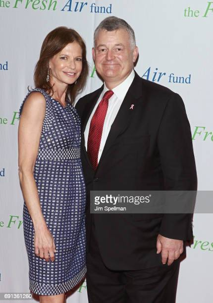 Lori Kanter Tritsch and William P Lauder attend the 2017 Fresh Air Fund Spring Benefit at Pier Sixty at Chelsea Piers on June 1 2017 in New York City