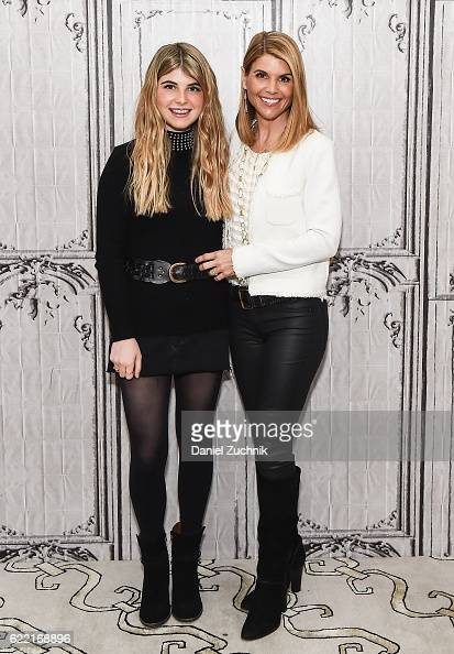 Lori Loughlin and Bella Giannulli attend AOL Build to discuss the film 'Every Christmas Has A Story' at AOL HQ on November 10 2016 in New York City