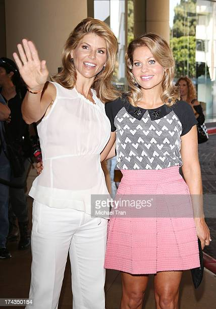 Lori Loughlin and Candace Cameron Bure arrive at the Television Critic Association's Summer press tour Hallmark Channel Hallmark Movie Channel event...