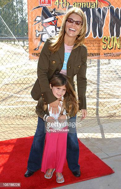 Lori Loughlin and daughter during 4th Annual Much Love Animal Rescue Bow Wow Ween at Barrington Dog Park in Brentwood California United States