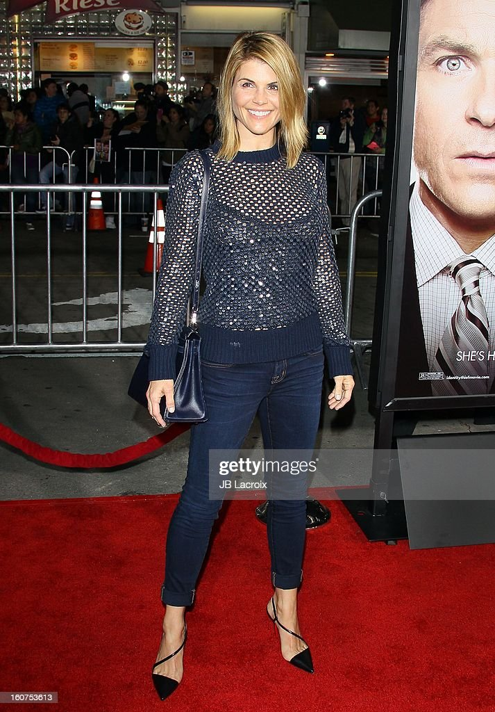 Lori Loughlin attends the 'Identity Thief' Premiere held at Mann Village Theatre on February 4, 2013 in Westwood, California.
