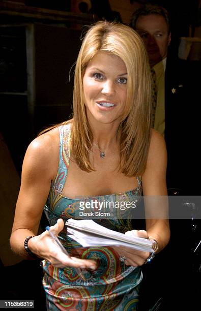 Lori Loughlin during Fantasia Barinno and Lori Loughlin Leaving the 'Live with Regis Kelly' Studios June 1 2004 at 'Live with Regis Kelly' Studios in...