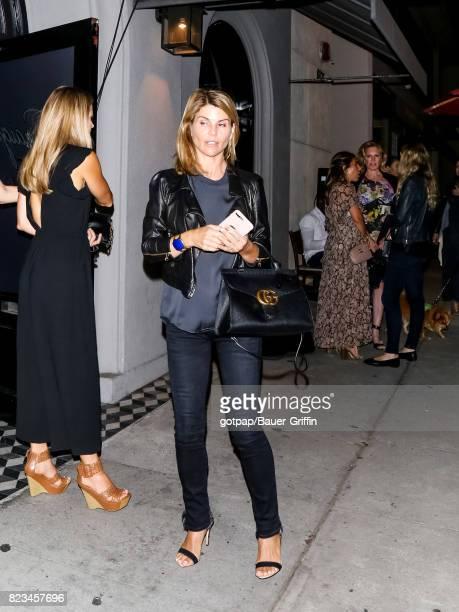 Lori Loughlin is seen on July 26 2017 in Los Angeles California