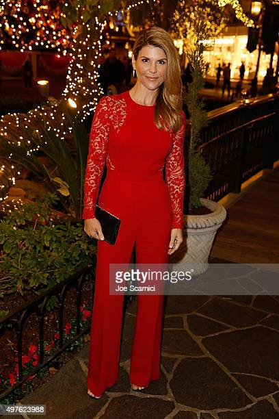 Lori Loughlin poses for a photo prior to the World Premiere Screening of 'Northpole Open for Christmas' at The Grove on November 17 2015 in Los...