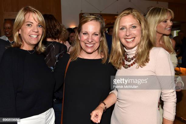Lori Schiaffino Emma Walton Hamilton and Lisa Schifter Greenberg attend Cocktails to Learn About The Sag Harbor Cinema Project at Le Bilboquet on...