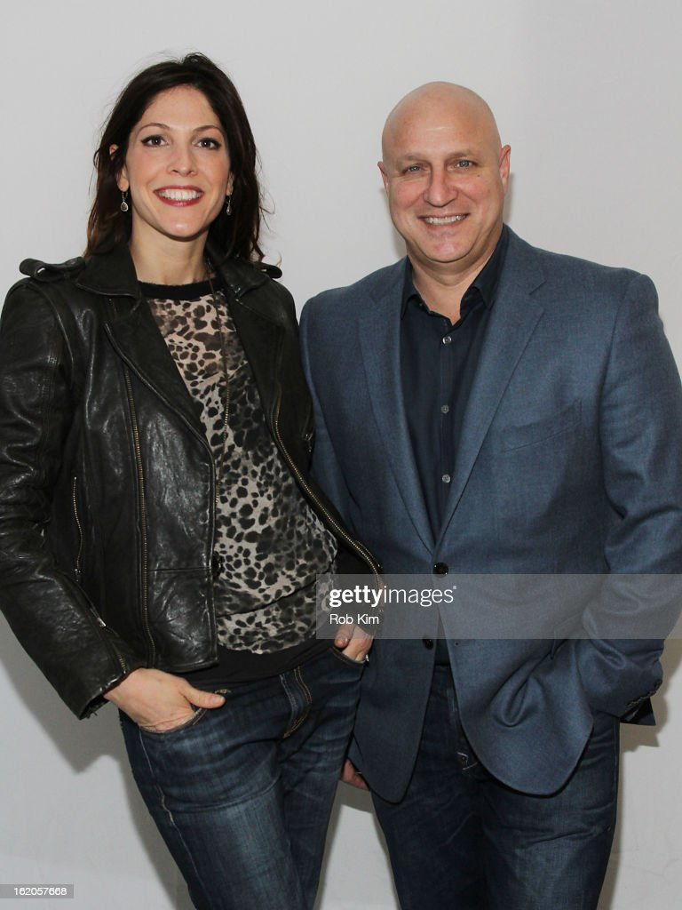 Lori Silverbush and Tom Colicchio attend Apple Store Soho Presents Meet The Filmmakers 'A Place At The Table' at Apple Store Soho on February 18 2013...