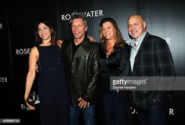 Lori Silverbush Jon Bon Jovi Dorothea Hurley and Tom Colicchio attend 'Rosewater' New York Premiere at AMC Lincoln Square Theater on November 12 2014...
