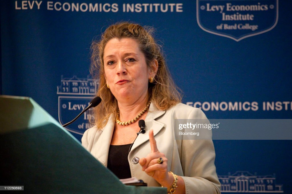 Lori Wallach, president of Global Trade Watch, speaks at the Levy Economics Institute conference in New York, U.S., on Thursday, April 14, 2011. The 20th Annual Levy Economics Conference, which runs from April 13-15, will address the ongoing effects of the global financial crisis on the real economy as well as examine proposed and recently enacted policy responses. Photographer: Michael Nagle/Bloomberg via Getty Images