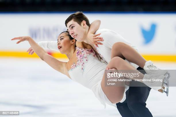 LoriAnn Matte and Thierry Ferland of Canada compete in the Junior Pairs Free Skating during day three of the ISU Junior Grand Prix of Figure Skating...