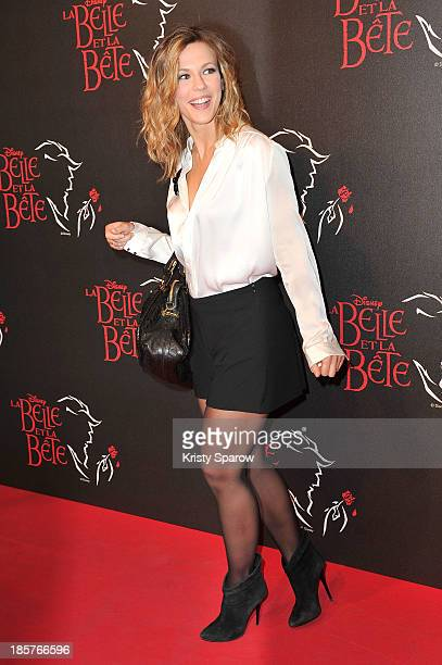 Lorie attends the 'Beauty and the Beast' Paris Premiere at Theatre Mogador on October 24 2013 in Paris France