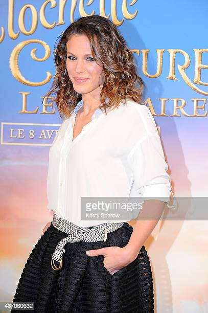 Lorie attends the 'Tinkerbell and The Legend of the Neverbeast' Paris Premiere at Gaumont Champs Elysees on March 20 2015 in Paris France