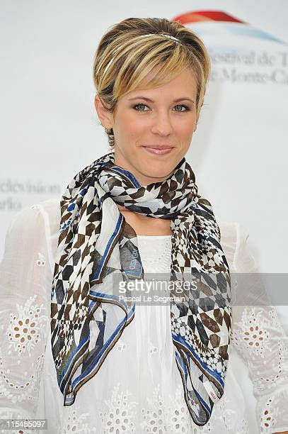 Lorie attends the 'Un Mari de trop' Photocall during the 2011 Monte Carlo Television Festival held at Grimaldi Forum on June 7 2011 in MonteCarlo...