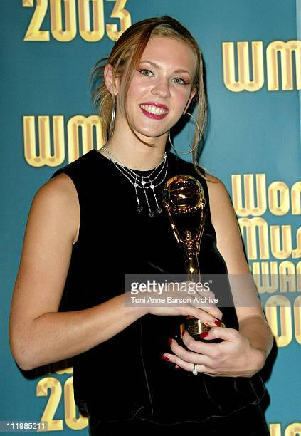 Lorie during 2003 Monte Carlo World Music Awards Press Room at Monte Carlo Sporting Club in Monte Carlo Monaco