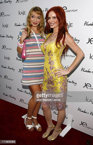 Lorielle New and Phoebe Price during Phoebe Price Launches 'Phoebe's Phantasy' by Lotion Glow at Kaje Store in Beverly Hills California United States
