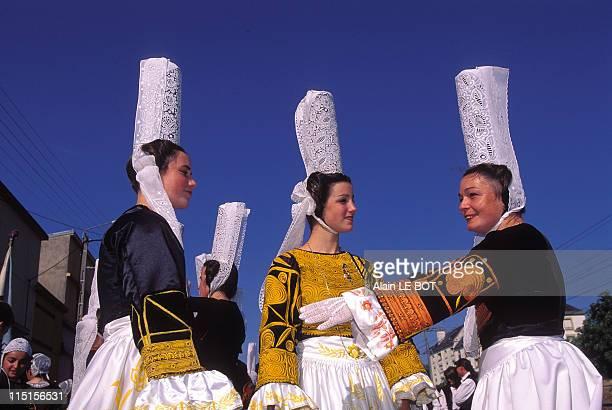 Lorient 'Festival interceltique' in Lorient France on August 04 1996 Bigoudens