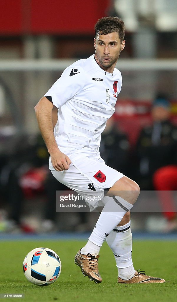 <a gi-track='captionPersonalityLinkClicked' href=/galleries/search?phrase=Lorik+Cana&family=editorial&specificpeople=662499 ng-click='$event.stopPropagation()'>Lorik Cana</a> of Albania controls the ball during the international friendly match between Austria and Albania at the Ernst-Happel-Stadion on March 26, 2016 in Vienna, Austria.
