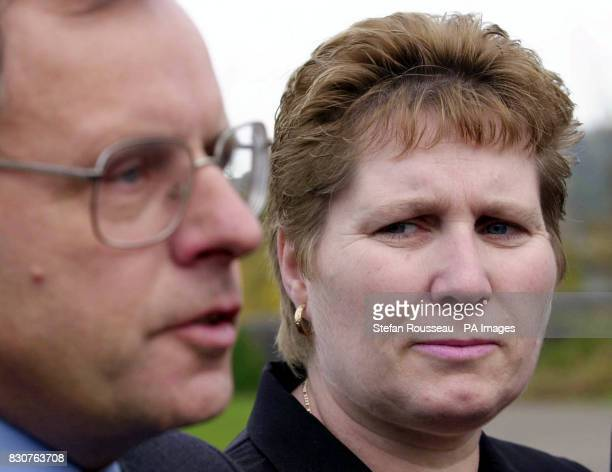 Lorinda and Graham Hall parents of murdered school girl Vicky Hall at Norwich Crown Court after Adrian Bradshaw was aquitted of the murder of the...