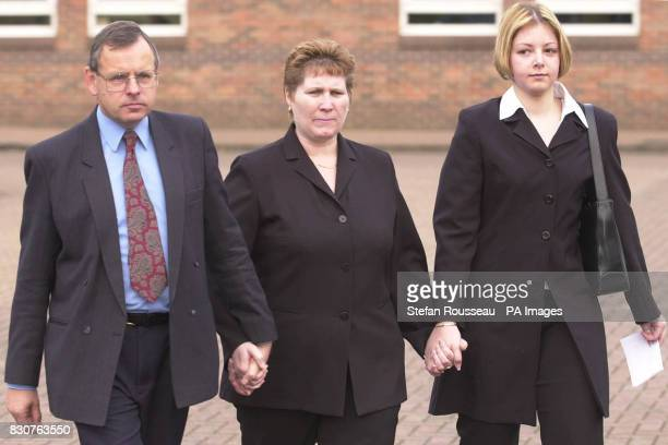 Lorinda and Graham Hall parents of murdered school girl Vicky Hall and her best friend Gemma Algar at Norwich Crown Court after Adrian Bradshaw was...