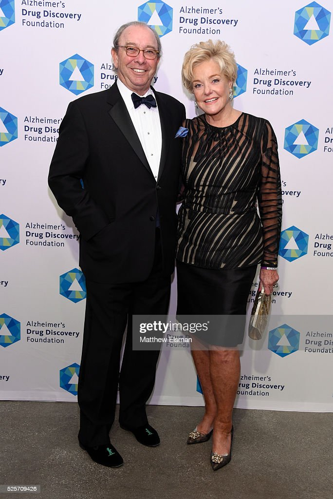 J. Loring Swasey Jr. (L) and Sharon Sager attend Alzheimer's Drug Discovery Foundation 10th Annual Connoisseur's Dinner at Sotheby's on April 28, 2016 in New York City.