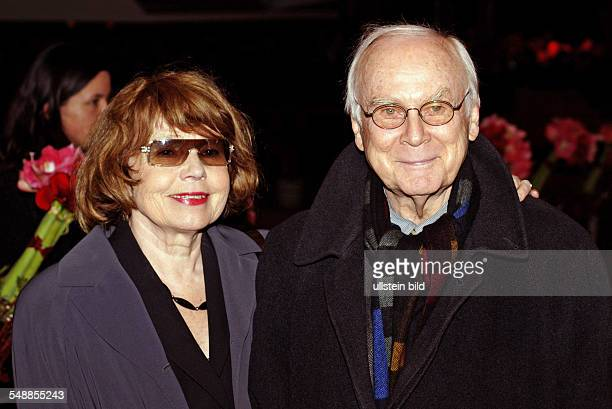 Loriot Humorist Cartoonist Germany with Wife Romi at the Berlin International Film Festival Editorialuseonly