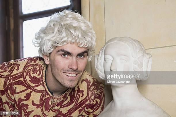 Loris Baz of France and Avintia Racing looks on during a preview event at the Chateau du Lude ahead of the MotoGp of France on May 4 2016 in Le Lude...