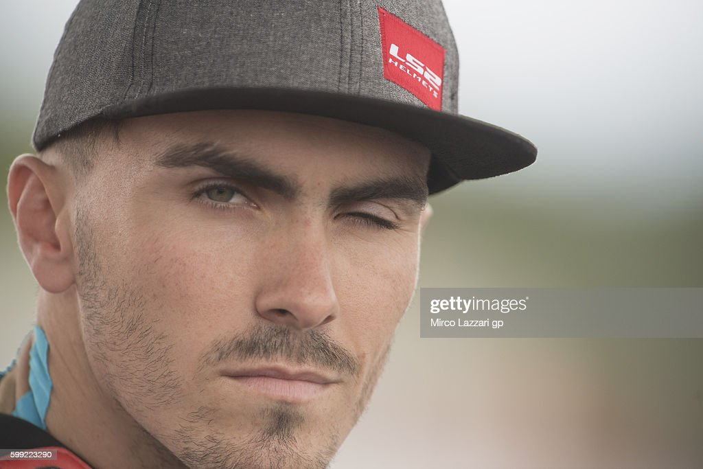 Loris Baz of France and Avintia Racing prepares to start on the grid during the MotoGP race during the MotoGp Of Great Britain - Race at Silverstone Circuit on September 4, 2016 in Northampton, England.