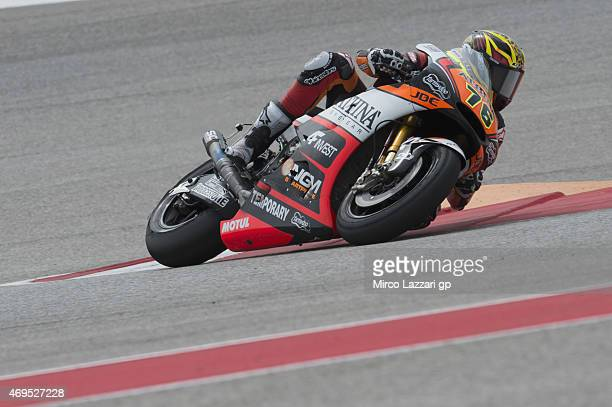 Loris Baz of France and Forward Racing rounds the bend during the MotoGP race during the MotoGp Red Bull US Grand Prix of The Americas Race at...