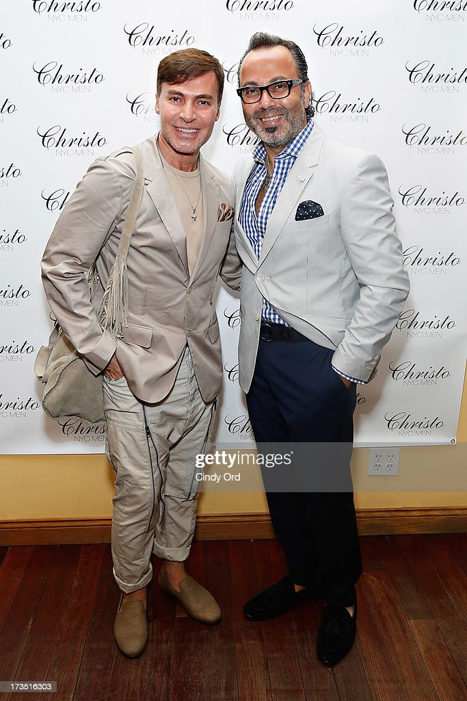 Loris Diran and Christo attend the Christo Men NYC Press Preview at Christo Fifth Ave on July 15, 2013 in New York City.